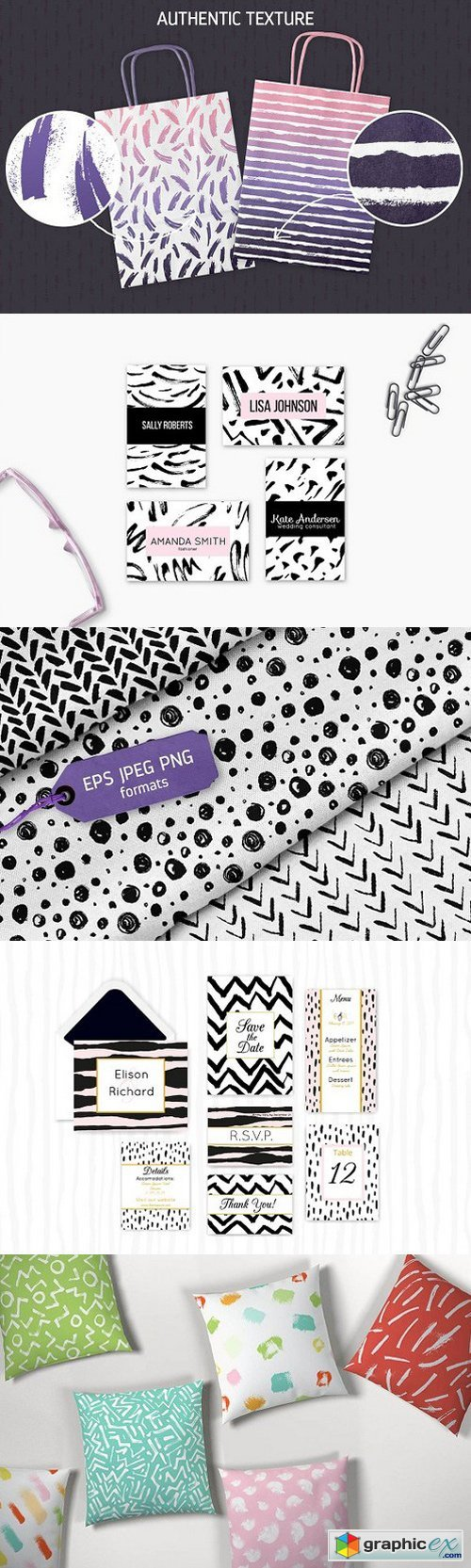 60 Bold Ink Patterns 1497164
