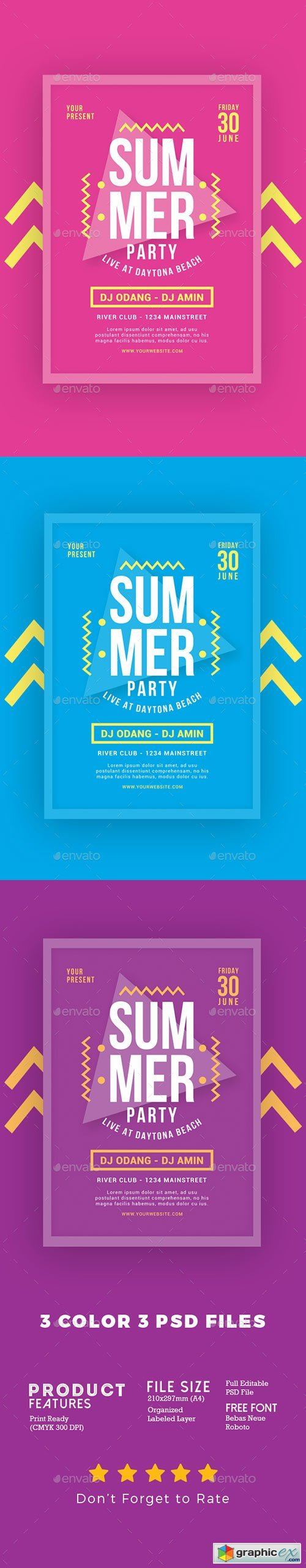 Summer Party Flyer 20185877