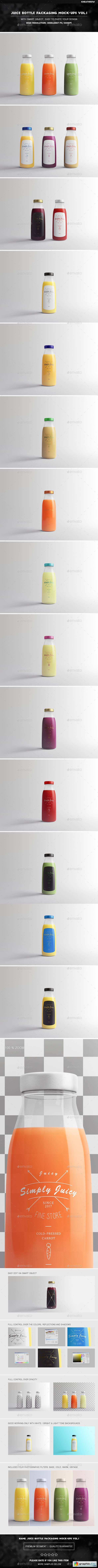 Juice Bottle Packaging Mock-Ups Vol.1