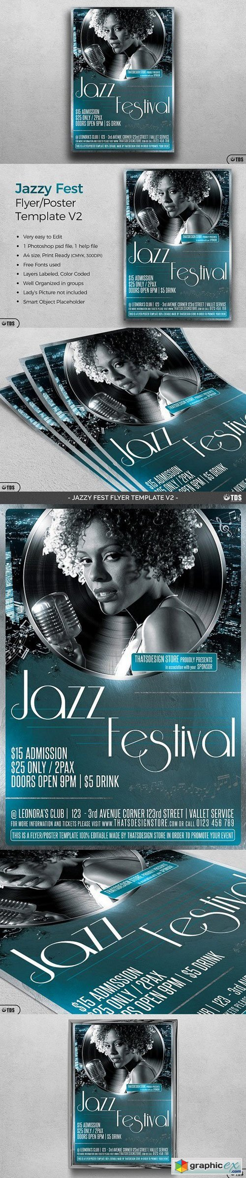Jazzy Fest Flyer Template V2 1529356