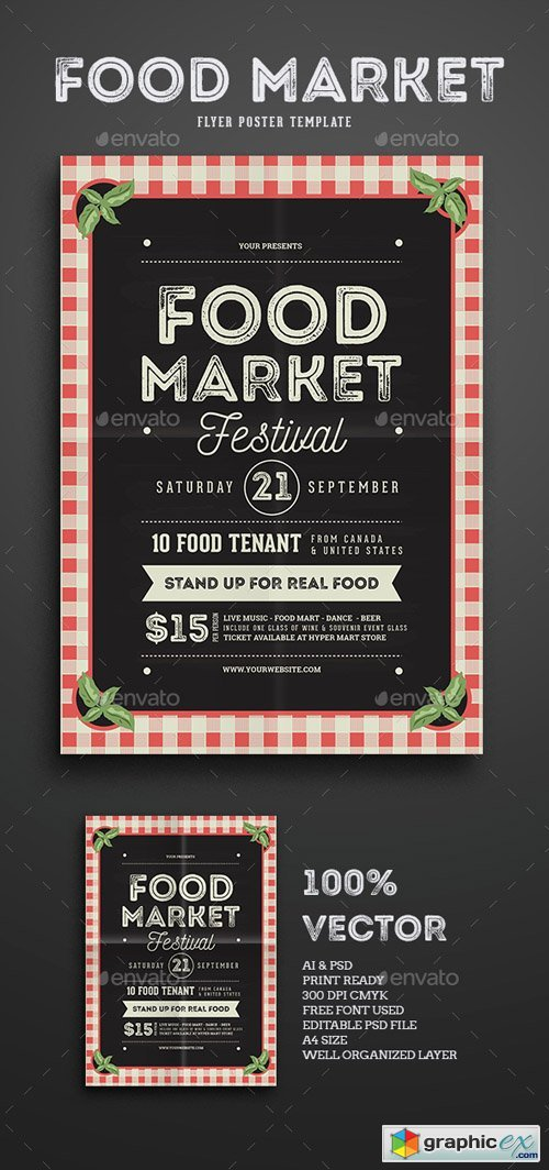 Food Market Flyer template