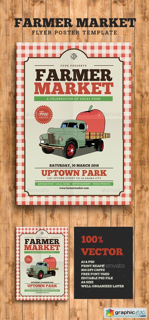 Farmer Market Event Flyer 16132162