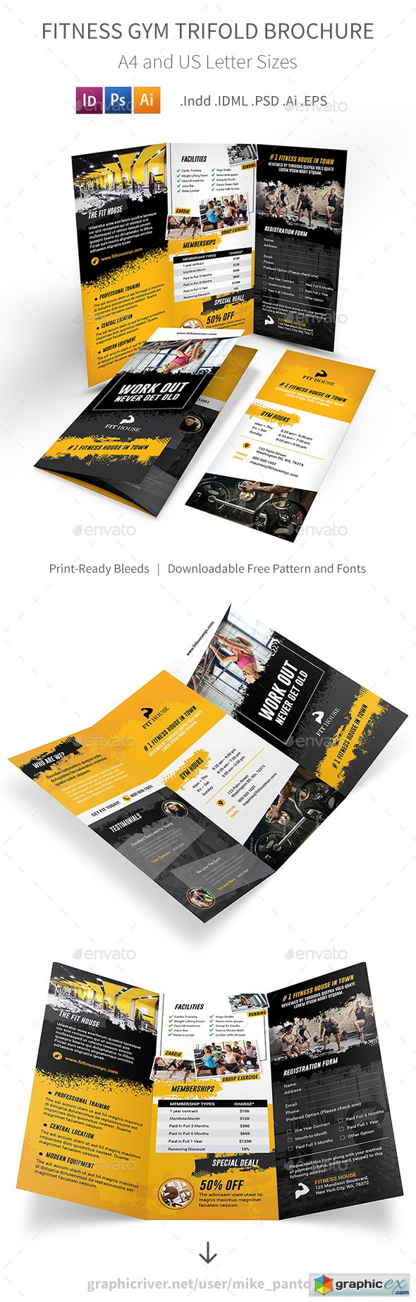 Fitness Gym Trifold Brochure 5