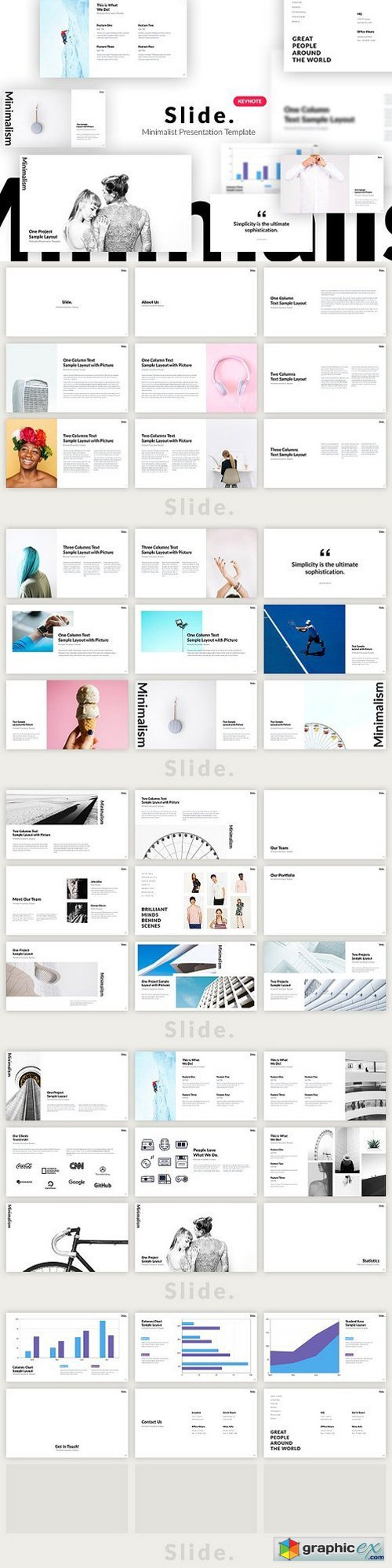 Slide. Minimalist Keynote Template