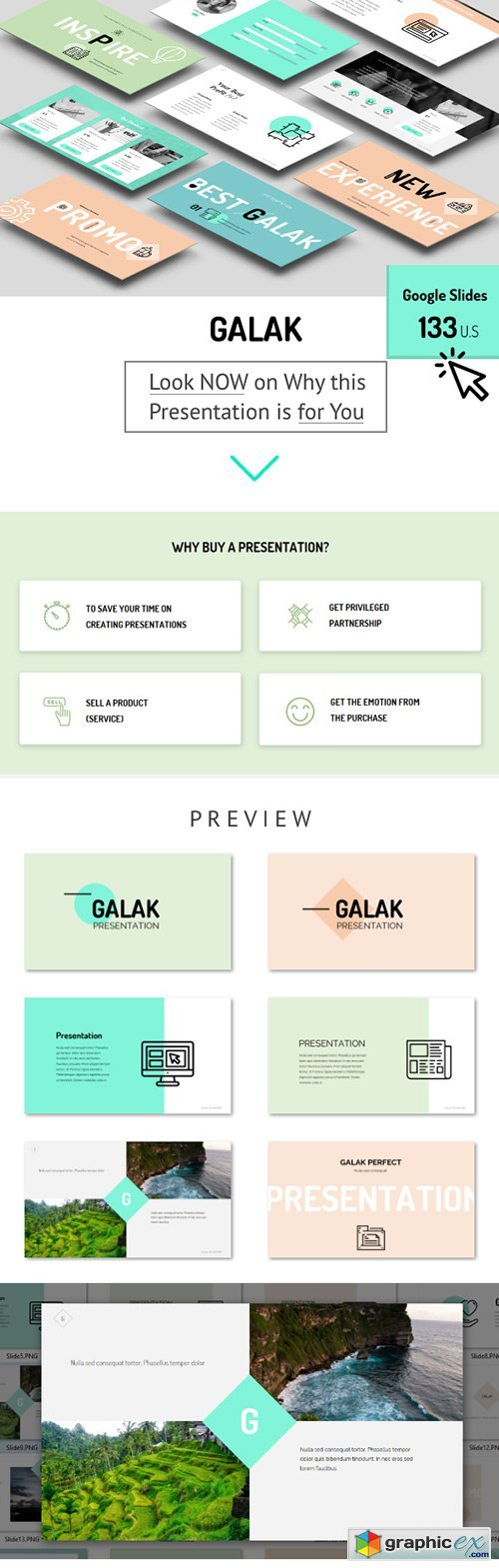 GALAK - Google Slides Presentation Template