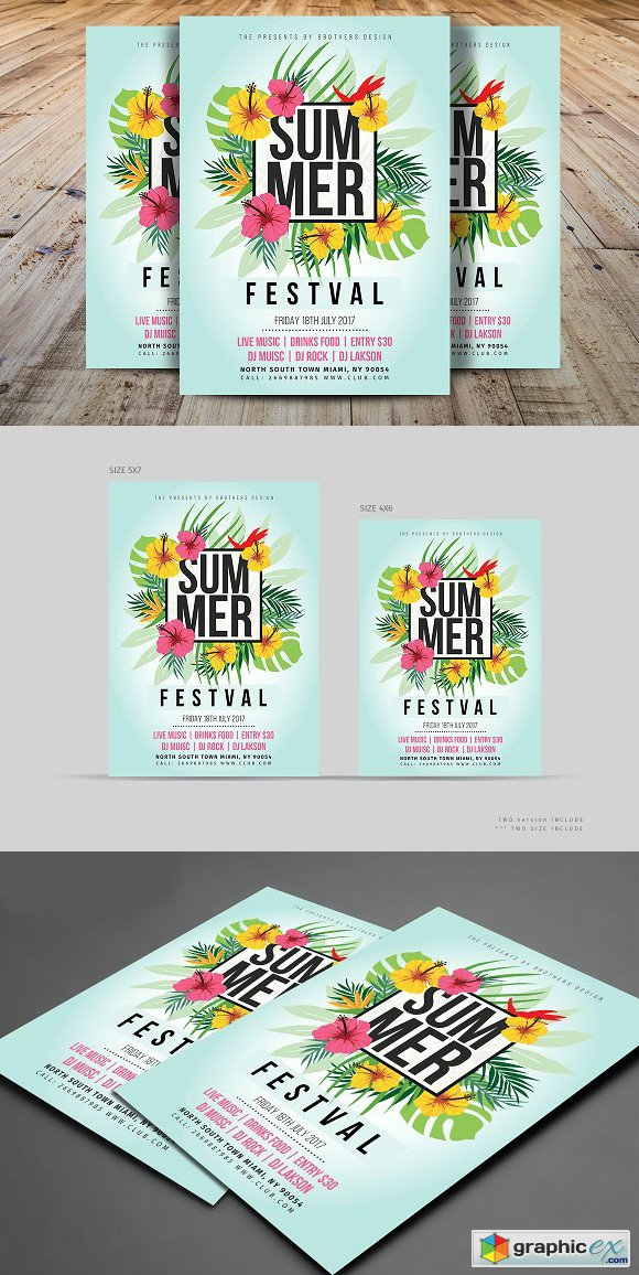 Summer Flyer Template 1611765