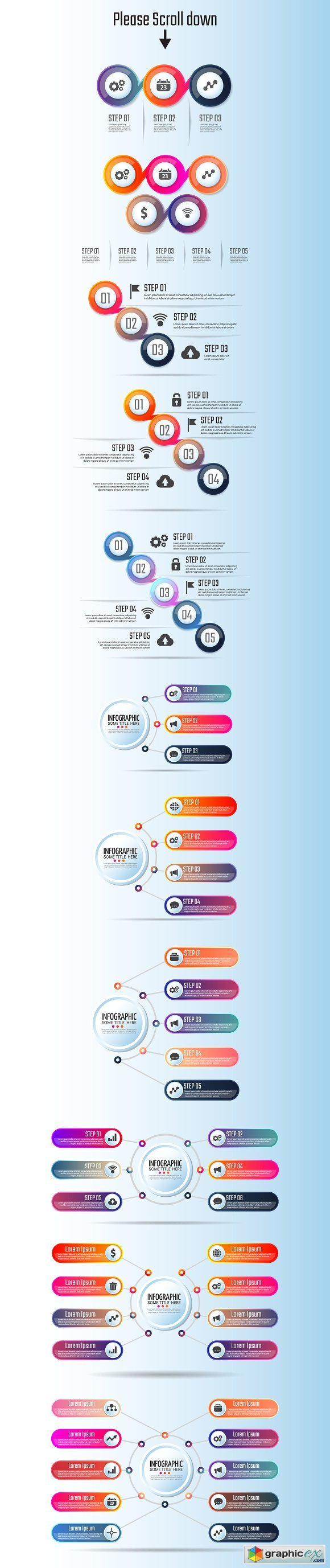 Circle Infographics Template Vol.5