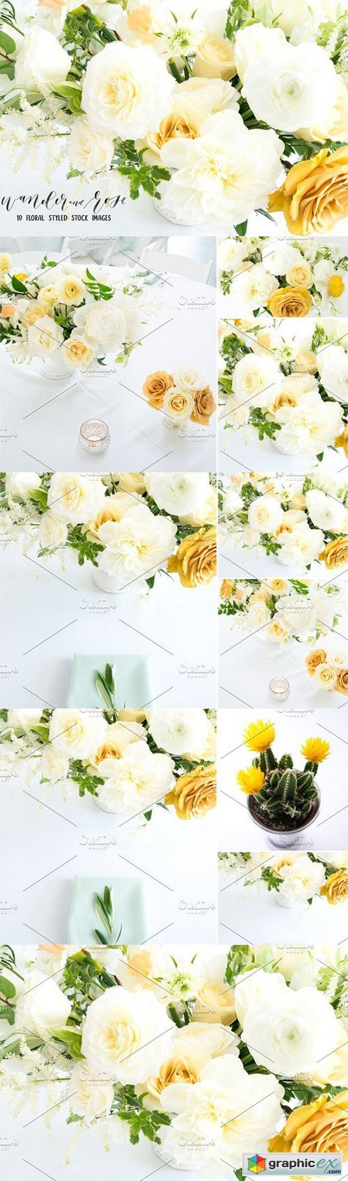 Yellow Flower Styled Stock Bundle