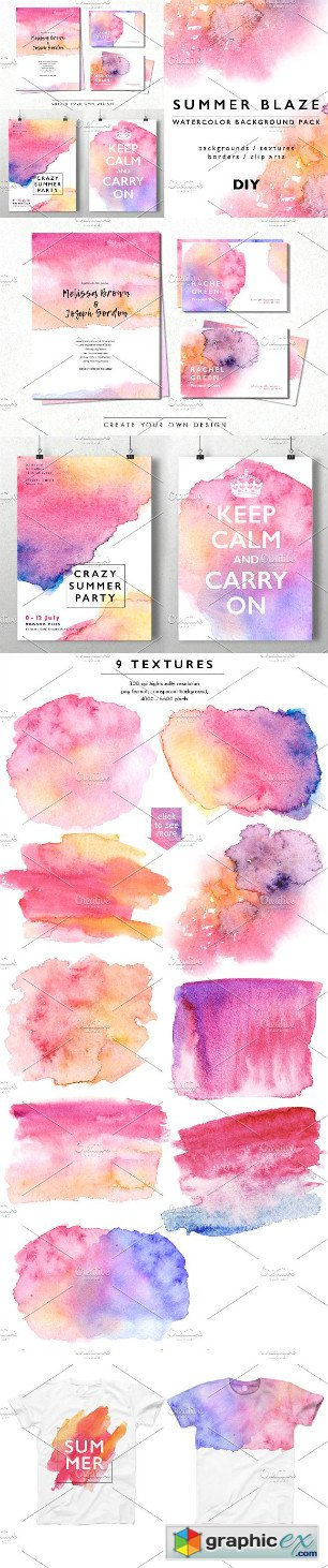 Watercolor Abstract Background Pack