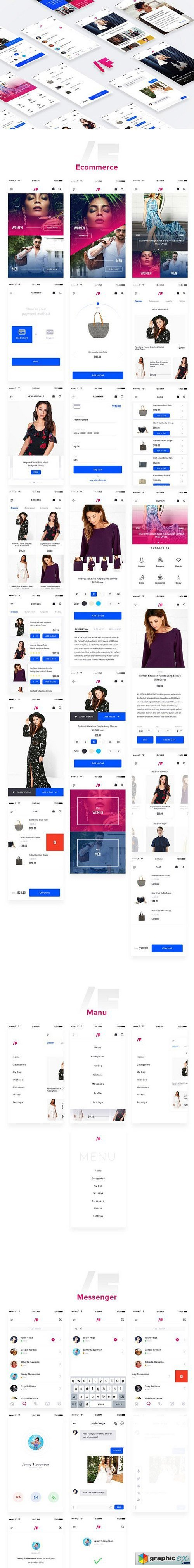 Fashion App UI Kit