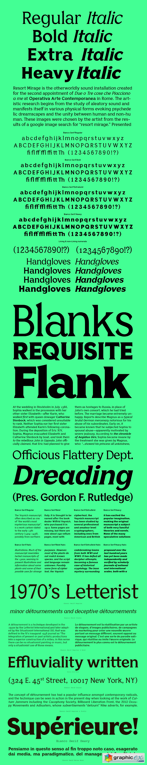 Bianco Serif Font Family » Free Download Vector Stock Image