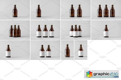 Beer Bottle Mock-Up Photo Bundle 2