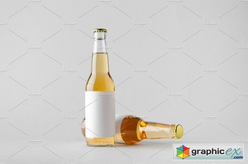 Beer Bottle Mock-Up Photo Bundle 3