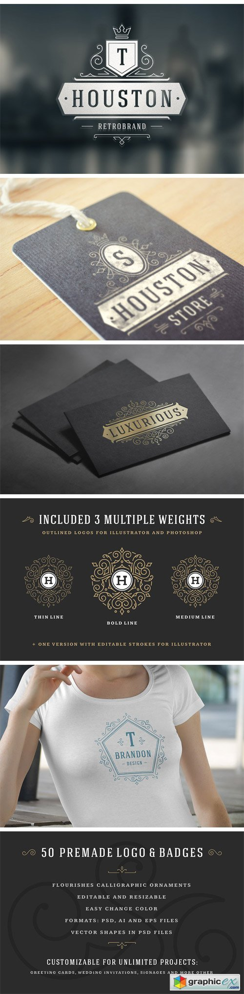 50 Luxurious Logos & Badges