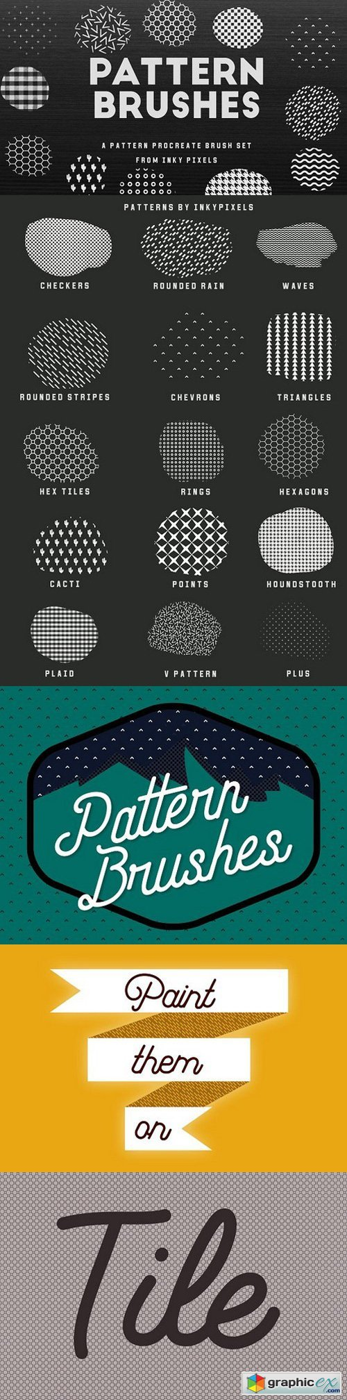 15 Procreate Pattern Brushes