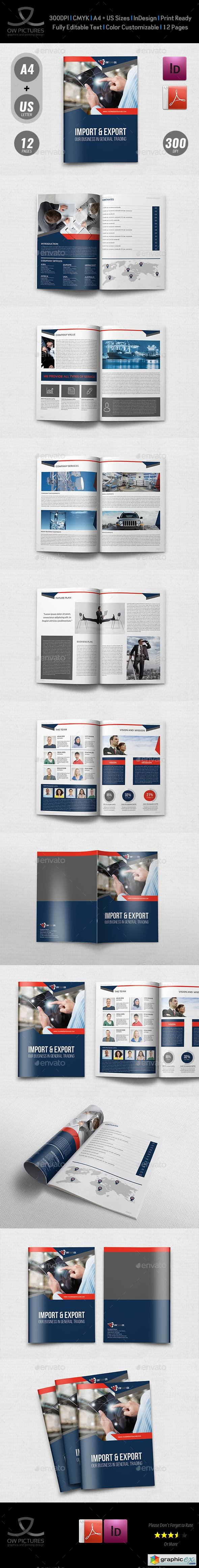 Company Profile Brochure Template Vol.44 -12 Pages