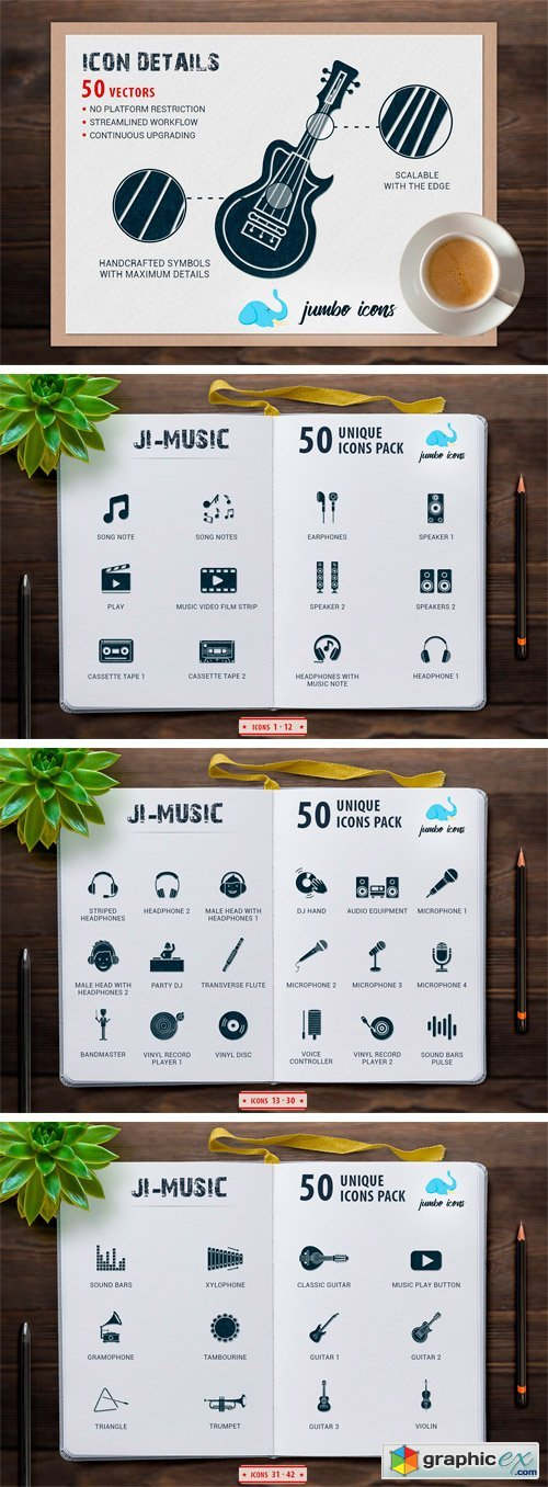 JI-Glyph Music Icons Set