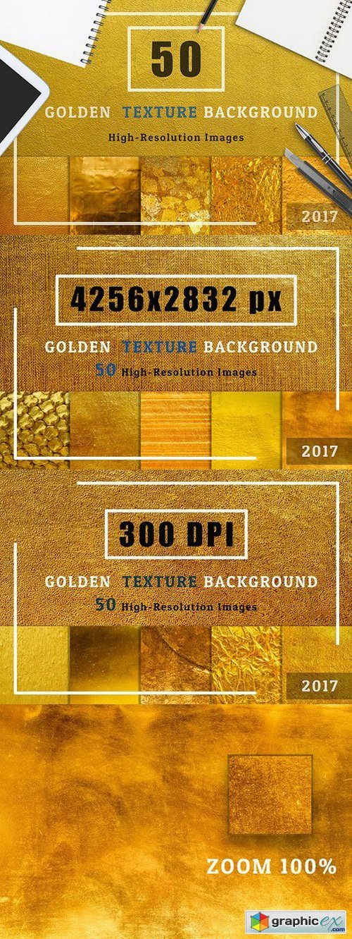 Golden Texture Background Set1