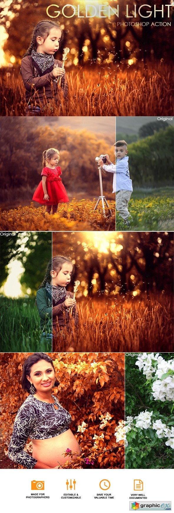 Graphicriver Golden Light Photoshop Action