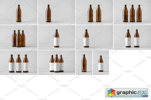 Beer Bottle Mock-Up Photo Bundle 6