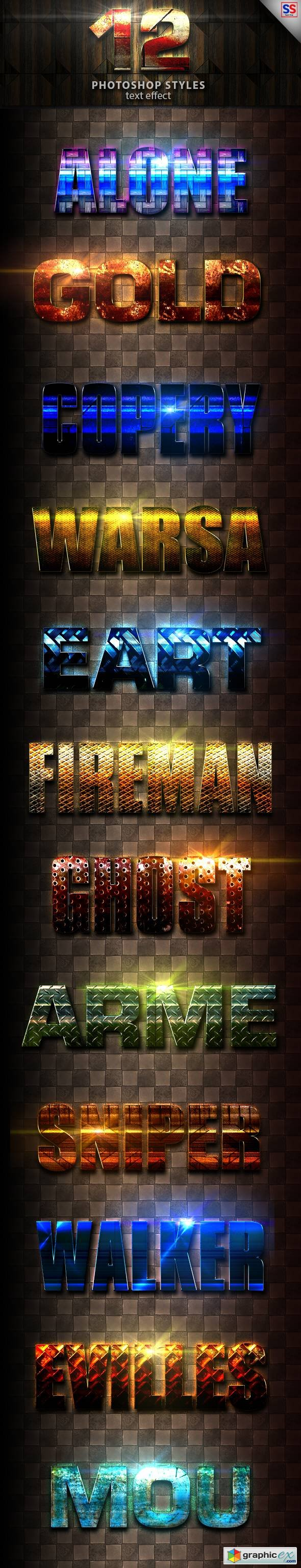 Graphicriver 12 Light Photoshop text Effect vol 17