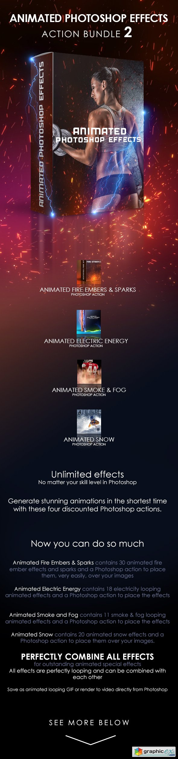 Graphicriver Animated Photoshop Effects Action Bundle 2