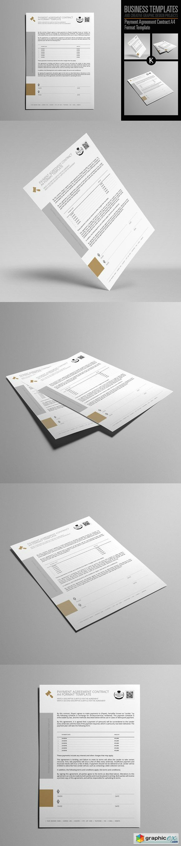 Payment Agreement Contract A4