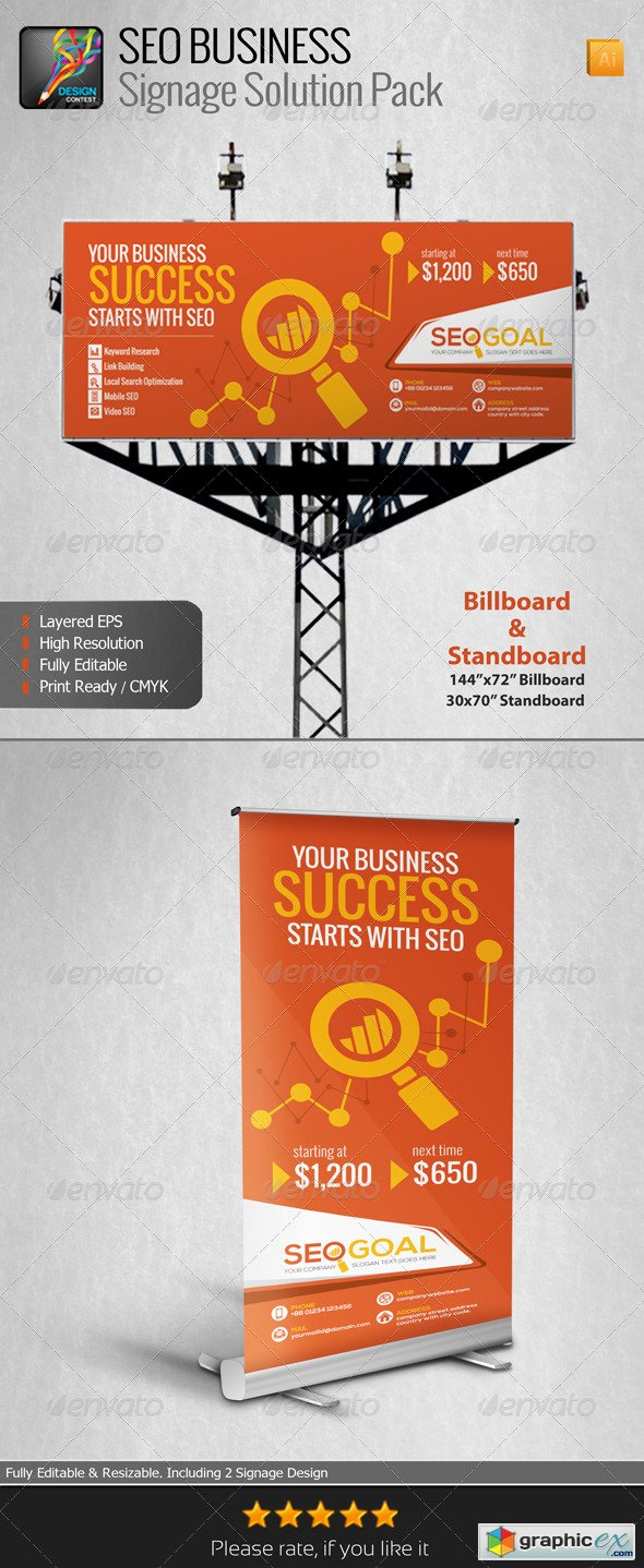 SEO Business Signage Solution Pack