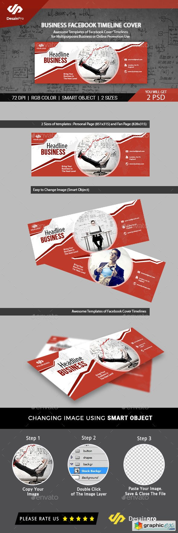 Business Services Facebook Cover Template Free Download Vector