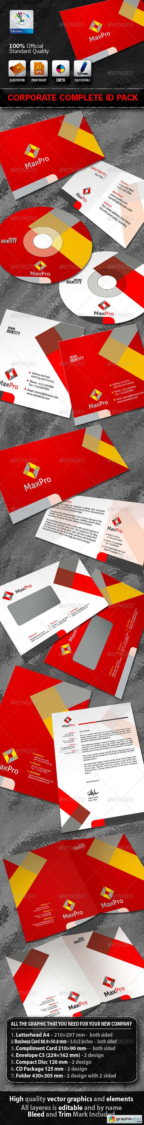 MaxPro Business Corporate ID Pack With Logo