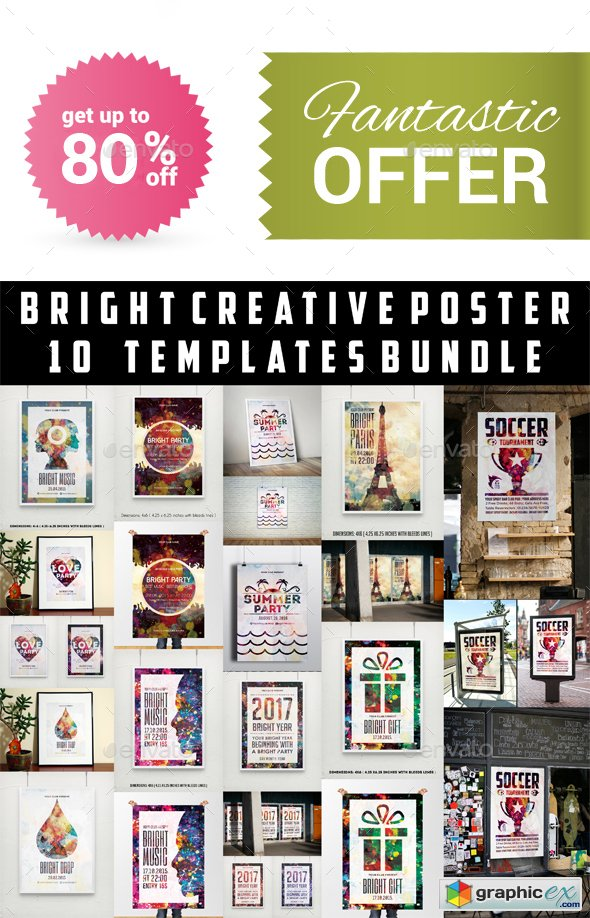 Bright Creative Poster Templates Bundle