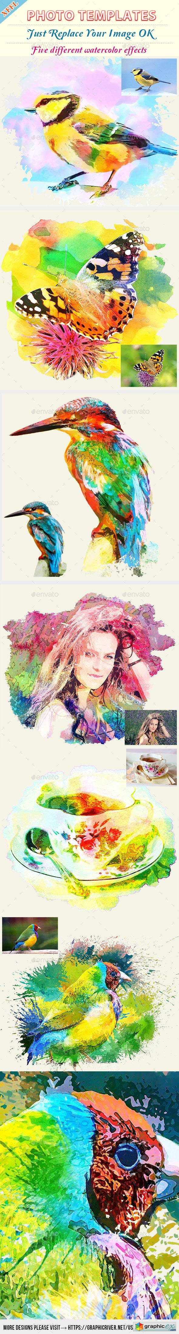Watercolor Art Photo Template