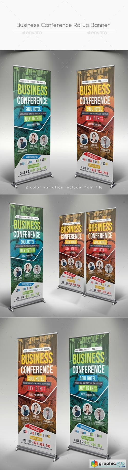 Business Conference Rollup Banner