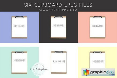 Lay Flat Clipboard in 6 Colors