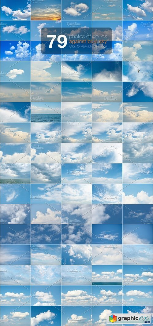 79 photos of clouds against blue sky