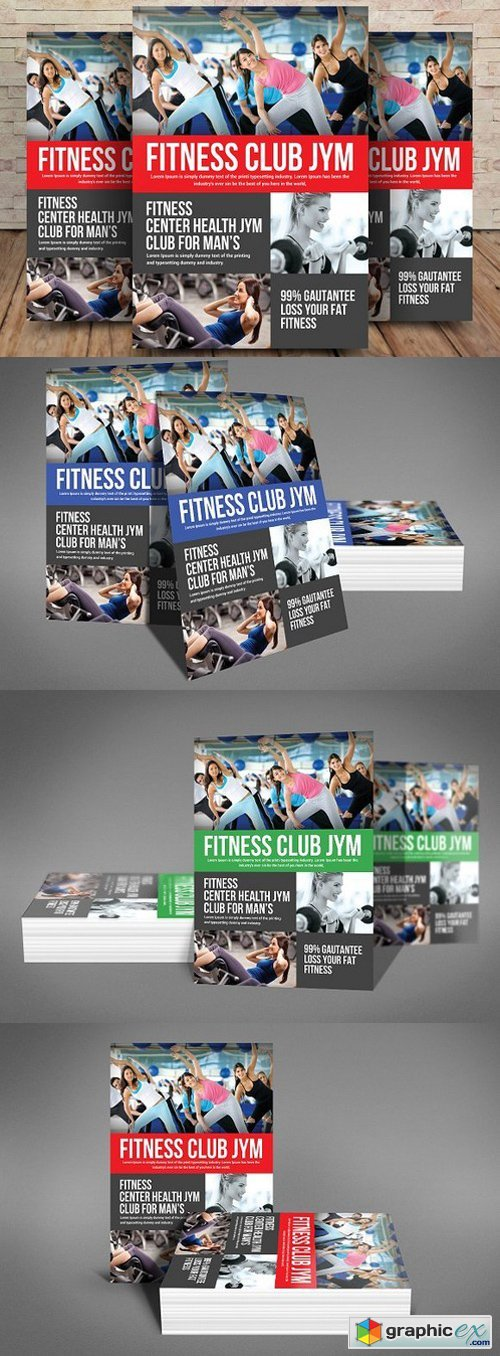 Fitness Flyer Template 1594579