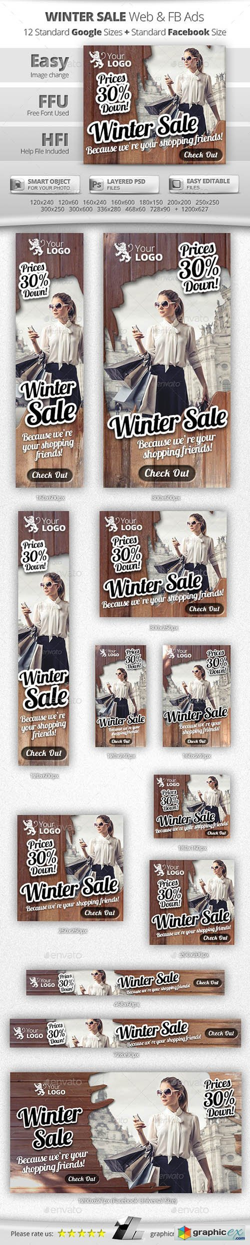 Winter Sale Web & Facebook Banners