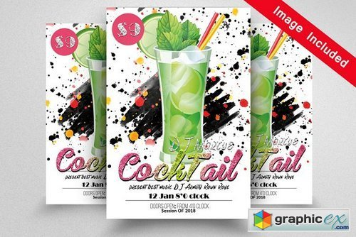 Cocktail Party Flyer Template 1604916