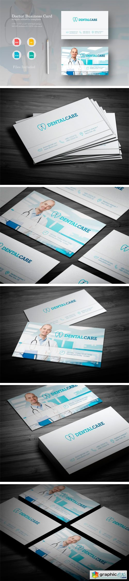 Dental Care Business Card