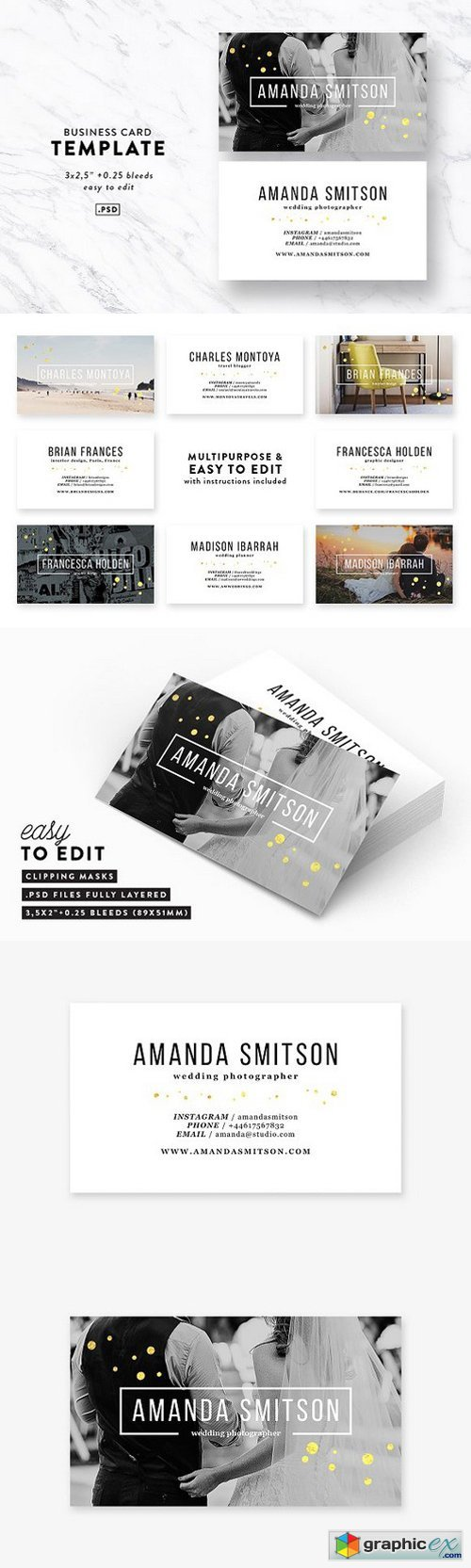 Photography Business Card Template 1594330