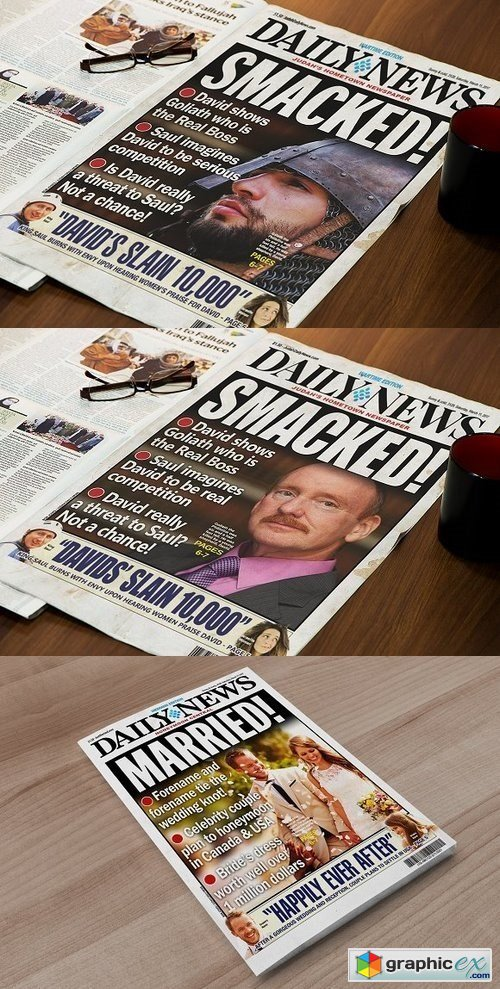 Editable Tabloid Newspaper Cover