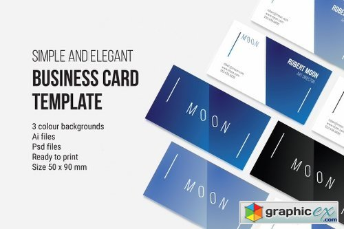 Moon Business Card Temmplate