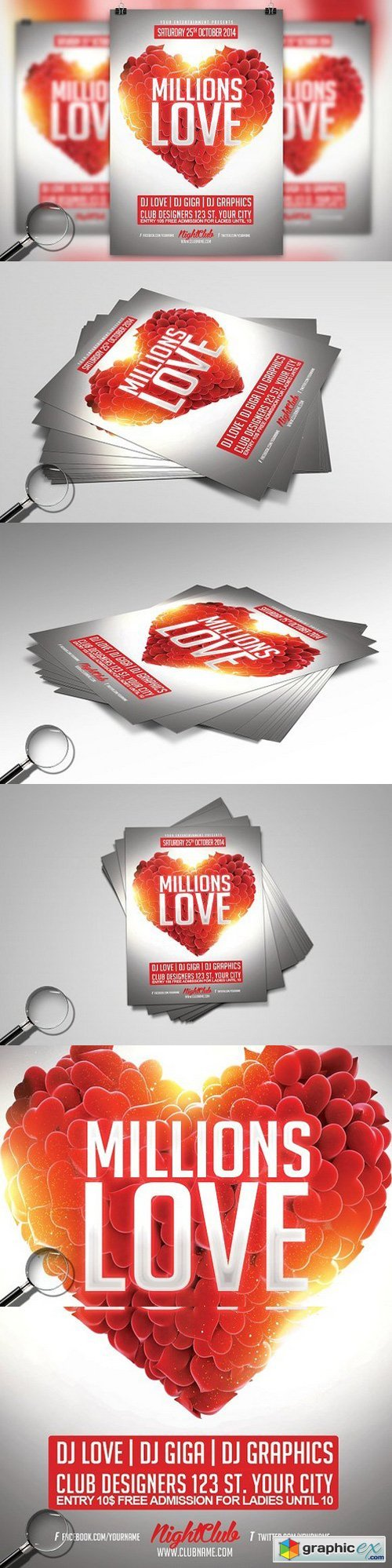 Millions Love | Pure Flyer Template