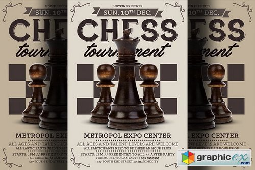 Chess Tournament Flyer Template 1317214