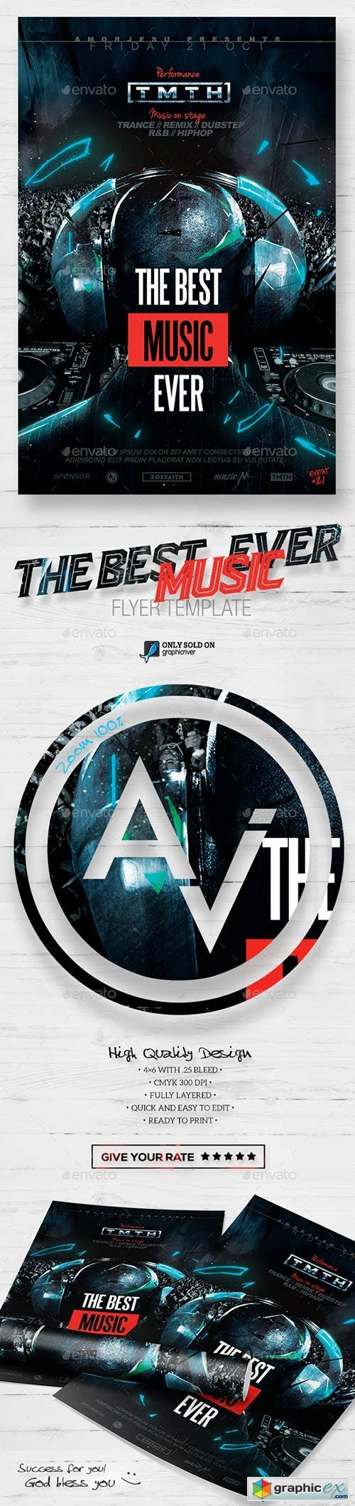 The Music Ever Flyer Template