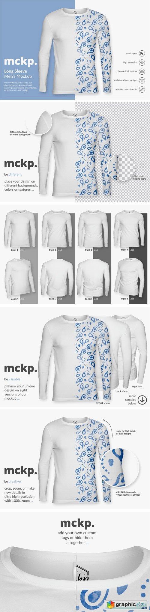 Long Sleeve by mckp - Men's Mockup