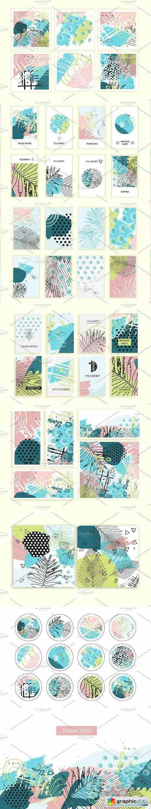 Tropical Passion graphic set