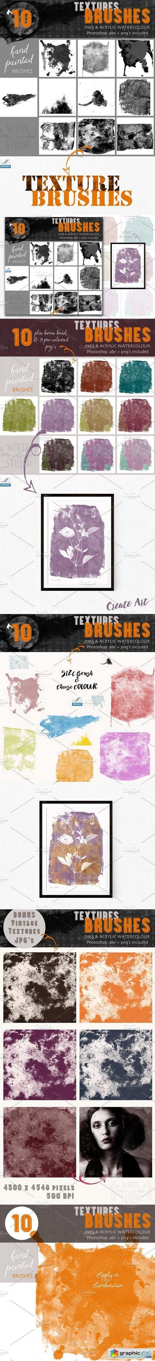 Textures Brushes- Inks & Acrylics