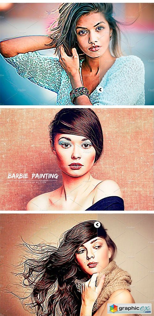 Barbie Painting Photoshop Action