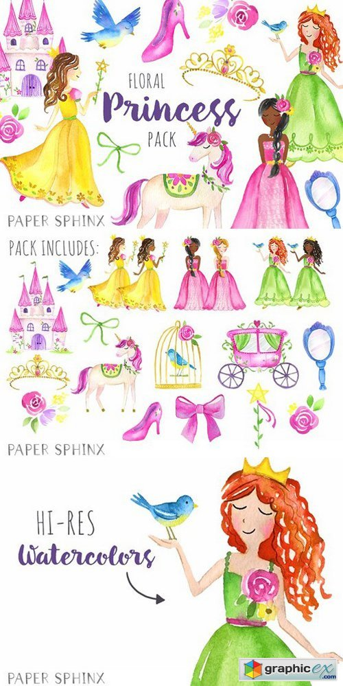 Watercolor Princess Pack